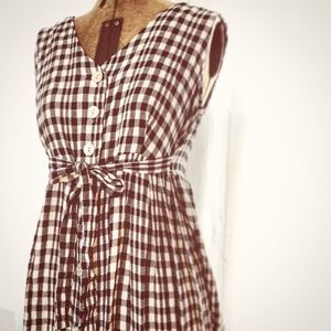Plaid Prairie Checkered Gingham Vintage Duster